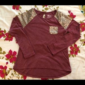 Girls epic threads long sleeve T with sequins